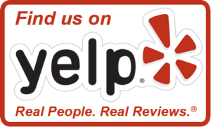 Find Us on Yelp Review logo