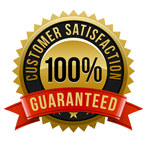 100% gutter guarantee customer service emblem