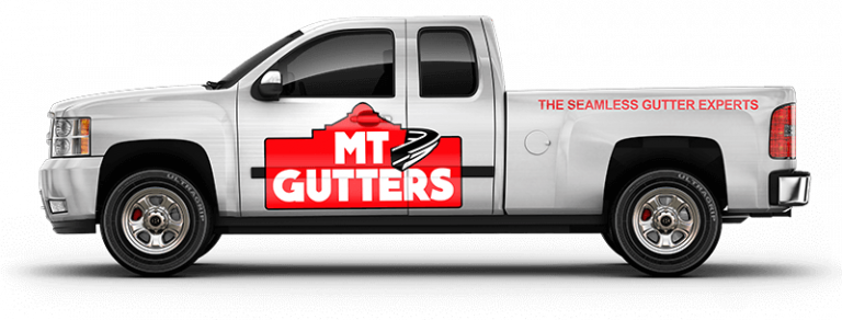 MT Gutters Wrapped Work Truck